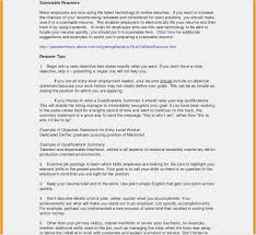 Samples Of Resume Objectives New Resume Objective Statement Entry
