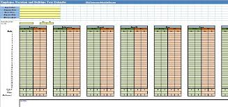 Vacation And Sick Time Tracking Spreadsheet Employee Vacation And Sick Calendar Spreadsheet Template
