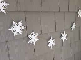 snowflake garland, winter garland, paper garland, winter