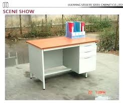 vintage metal office furniture. Vintage Metal Office Furniture Steel Desk With Locking Drawers