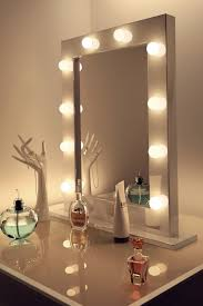 ening mirror vanity with lights
