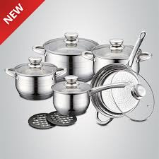 royalty line 12 pcs stainless steel cookware set