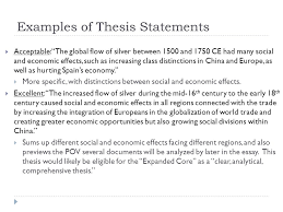 example thesis statement for dbq
