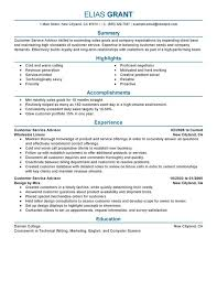 Customer Service Advisor Resume Examples Free To Try Today