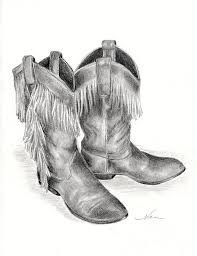fashion boots drawing. fashion drawing - cowboy boots by nan wright