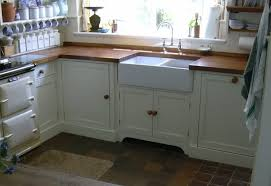 a double basin a front sink in the kitchen