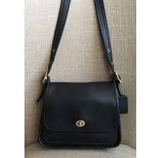 Vintage COACH Rambler Black Crossbody Handbag 9061