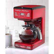 50s Style Kitchen Appliances Nostalgia 12 Cup Coffee Maker Rcof120 The Home Depot