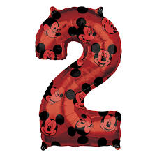 Mickey Mouse Forever Number 2 Mid-Size SuperShape Foil Balloons 17