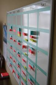 office whiteboard ideas. Create Your Own: Washi Tape + Whiteboard Calendar Office Ideas