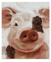 pig canvas wall art print shelley b home and holiday on pig canvas wall art with pig canvas wall art 22in pinterest canvases farmhouse wall art