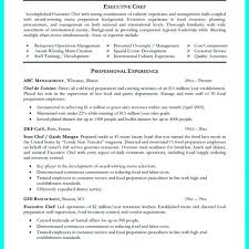 Culinary Resume Template Inspiration Professional Culinary Resume Template Examples Free Templates Full