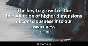 Consciousness Quotes Awesome The Key To Growth Is The Introduction Of Higher Dimensions Of