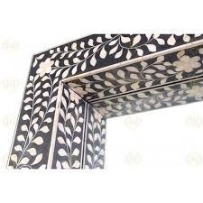 black bone inlay fl floor mirror