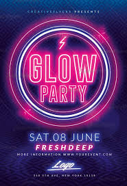 glow flyer download glow party flyer templates psd creative flyers