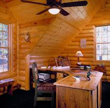 home office cabins. Find Inspiration In These Log Home Pictures Focusing On Sunrooms, Lofts And Office. Office Cabins Pinterest
