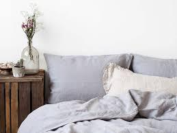 washed linen bed set light grey bedding set by linen tales