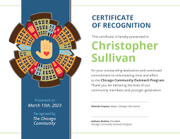 Certificate Recognition Community Volunteer Certificate Of Recognition Template