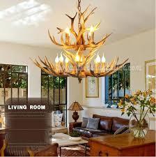 rustic lighting fixtures. Extraordinary Rustic Lighting Fixtures Buy Deer Antler Chandelier 8 4 Cast Cascade Candle Style .
