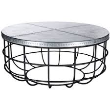 Superior Coffee Table:Universal Lighting And Decor Axel Round Iron And Hammered Zinc Coffee  Table Round Design Ideas