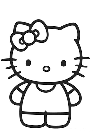 Small Picture Easy Hello Kitty Coloring Pages Cartoon Coloring pages of