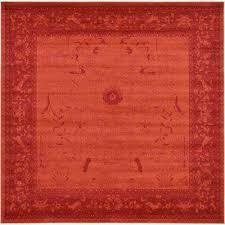 la jolla rust red 10 x 10 square rug