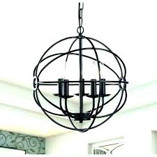 wood and metal orb chandelier globe large size of