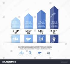 Growth Chart Design Chart Ribbon Arrows Infographic Design Elements Stock Hot