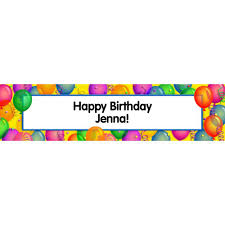 happy birthday customized banners brilliant balloons personalized banner custom banners and