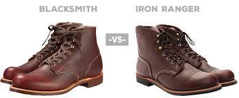 red wing blacksmith vs iron ranger