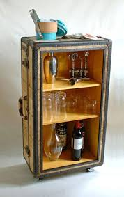 bar trunk furniture. add birch paneling shelves and wheels to an old trunk create a truly bar furniture