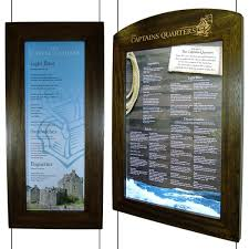 Wooden Menu Display Stands Window menu case Restaurant displays 40