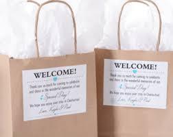 wedding hotel bags etsy