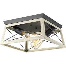 progress lighting p350039 143 two light flush mount briarwood collection