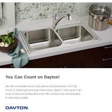 Elkay Dsesr12722 Dayton 27 Single Basin Drop In Stainless Steel
