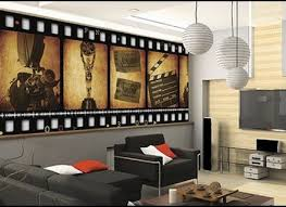 Small Picture Movie Reel Film Wooden Wall Decor Plaque Burgundy Home Theater