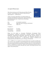 (PDF) Recent Advances in 2-D Nanostructured Metal Nitrides ...
