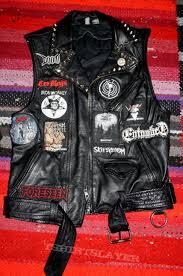 leather metal punk vest