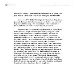 how does harper lee present the characters of scout dill and jem  document image preview