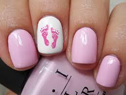 Amazon.com: Pink Baby Footprints Water Slide Nail Art Decals ...