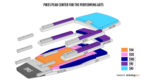 Pikes Peak Performing Arts Center Seating Chart Colorado Springs Pikes Peak Center For The Performing Arts
