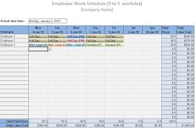 Simple Work Schedule Template Sample Work Schedule For Employees Scheduling Template