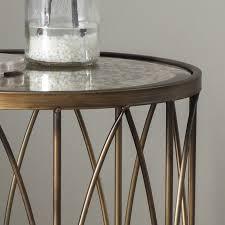 antique gold round side table vintage