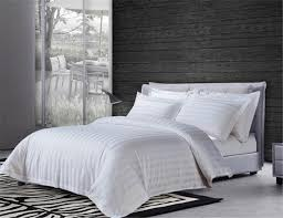 china white hotel 3cm stripe duvet cover with pillow case quilt cover bedding china stripe duvet cover 3cm stripe duvet cover