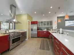 Beautiful Kitchens Designs Beautiful Kitchen Design Idea Feat Red Accents Vanity Storage