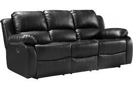 valencia leather sofa black electric