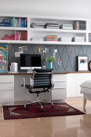 home office wall shelves. Plain Home Home Office With Builtin Wall Shelving Jess Loraas On Design Sponge Via  Remodelaholic And Home Office Wall Shelves 7