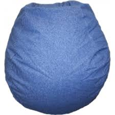 blue denim bean bag chair