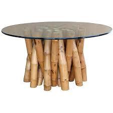 wicker console table rattan bamboo coffee
