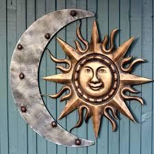 metal moon wall art sun and moon wall decor sun moon metal wall art by sun